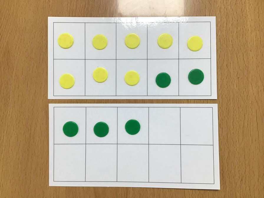 example showing  8 + 5 = 10 + 3 = 13