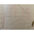 Alfie's drawing of a house on fire...