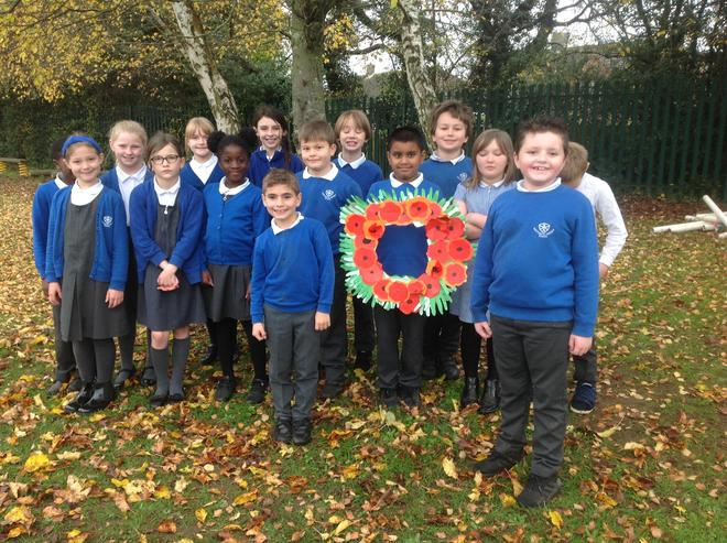 We each made a poppy for oour Remembrance wreath.