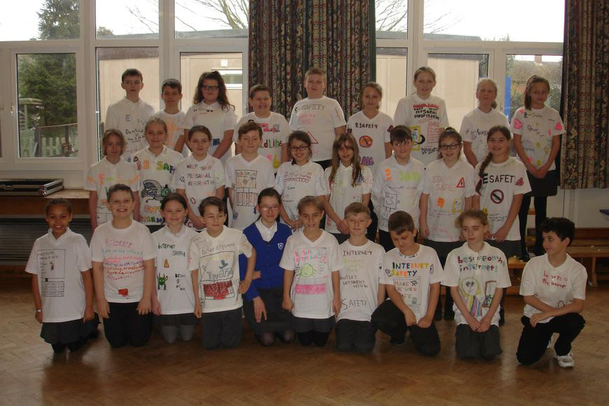 Years 5 and 6 designed t-shirts