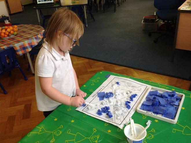 Crafting the Scottish flag