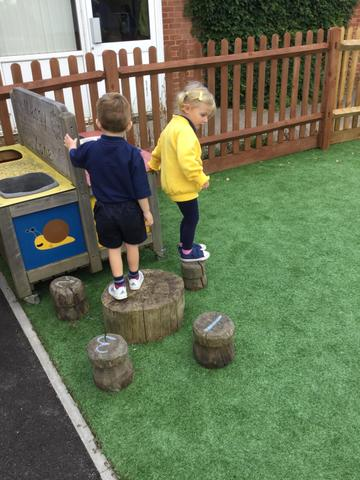 Challenging our gross motor skills