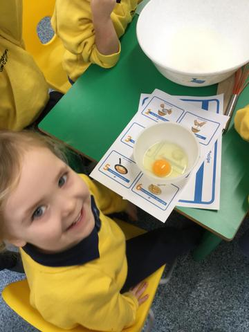 Next we had a look inside an egg