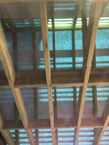 Inside the new roof