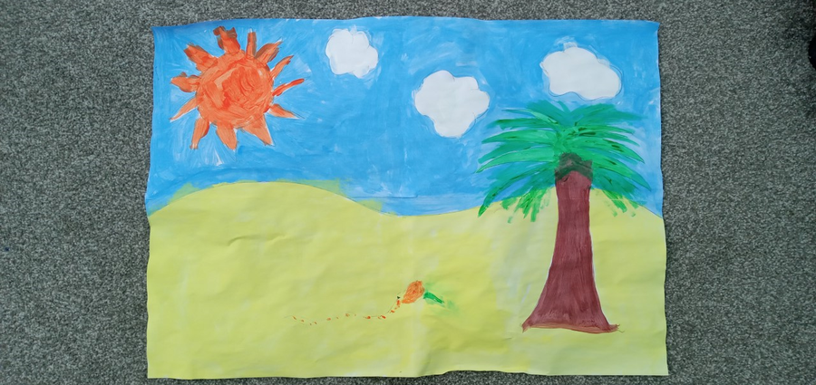 A super desert scene painted by Eva