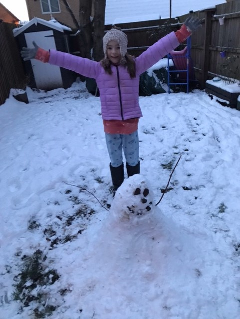 Lily's snow man
