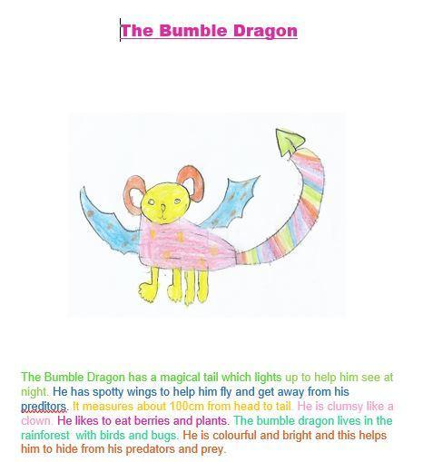 The Bumble dragon by Sienna