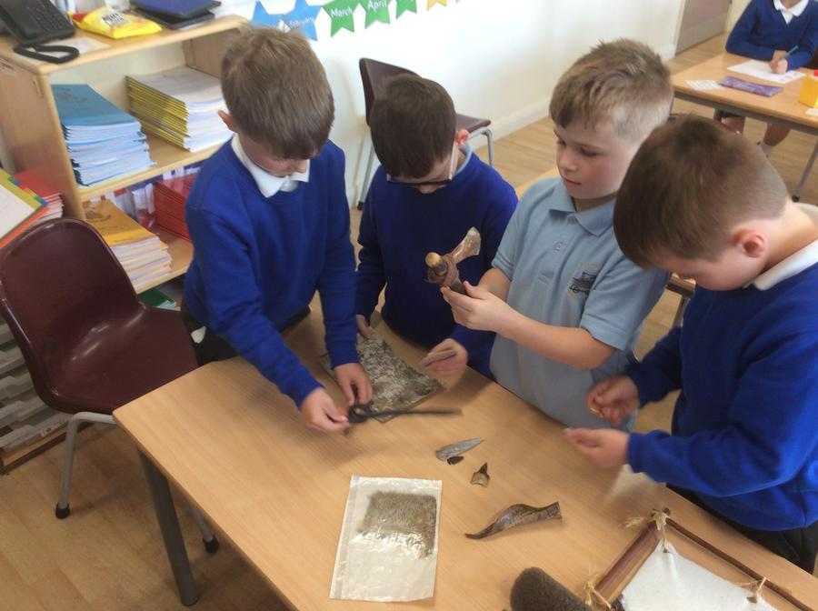Exploring tools from prehistory.