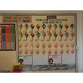 The Maths wall with lots of helpful hints.