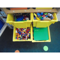 We have lots of construction materials for you to build with.