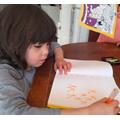 Sophia has been practising her writing