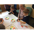 It is wonderful to see the older adults responding to the children and joining in.