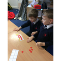 Moving the counters to make ten