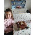 Lola's yummy chocolate and caramel cake