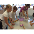 Making Naan bread for year 6 Curry Night
