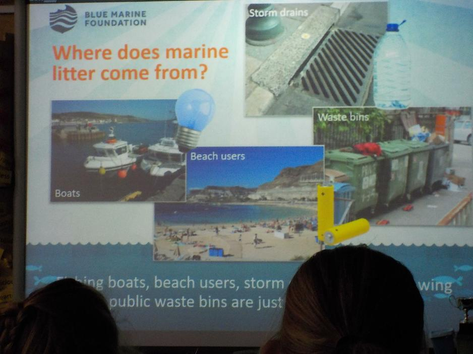 Learning about marine litter.