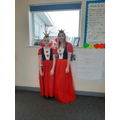 Miss Tomlinson and Carys in Year 6