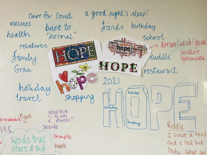 We started thinking about our hopes for 2021 ready for assembly.