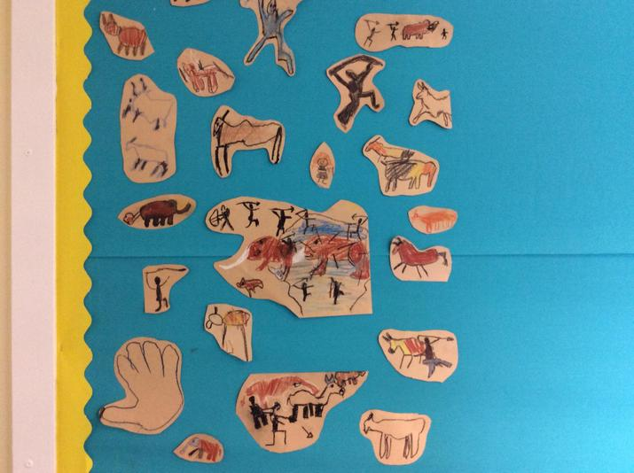 Red Kites' cave paintings