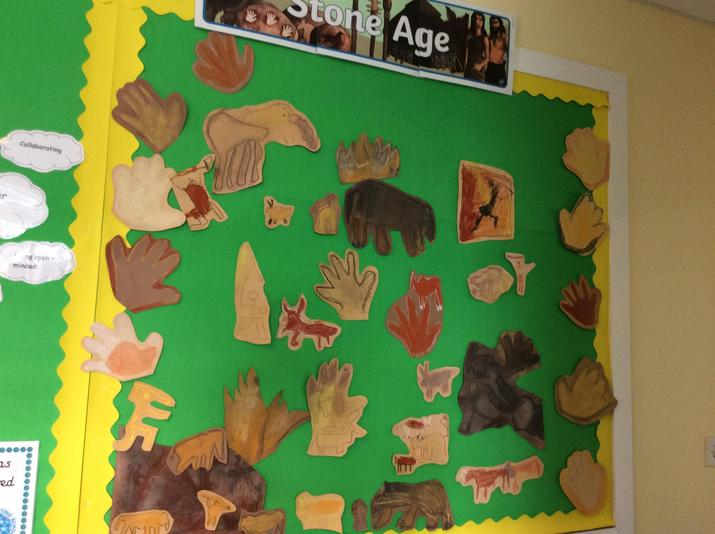 Falcons' cave paintings
