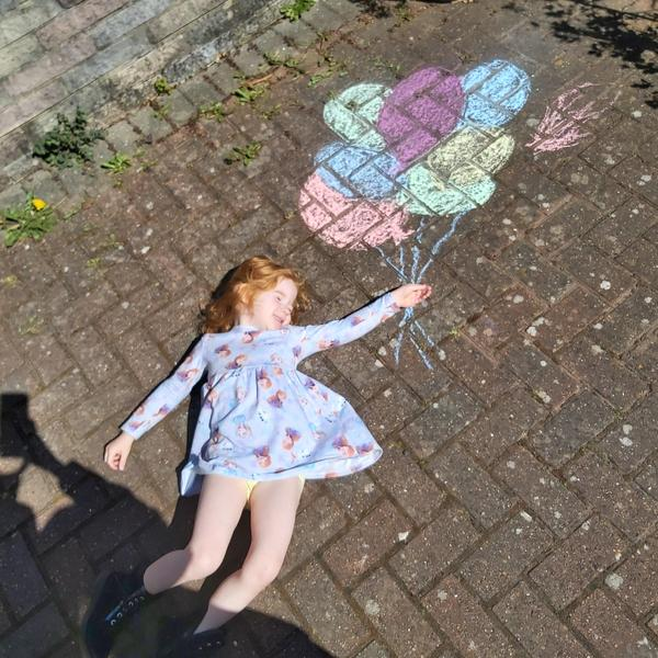 Balloon chalking.