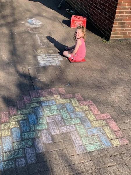 Beautiful chalk drawings 🌈