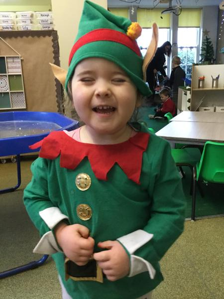 And a very cheeky elf!