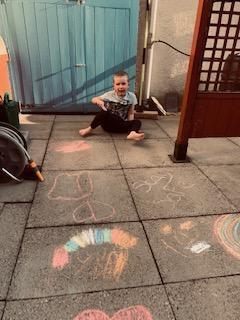 Beautiful chalk drawings