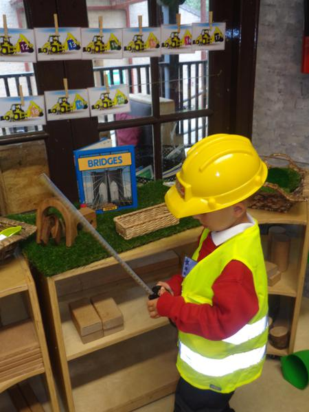 Measuring in the construction area