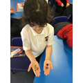 We learnt about parts with marbles too. Look 4 and 2. The whole is 6.