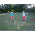 Practicing our hula hooping