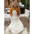 A snow princess!