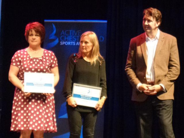 Mrs Kerry receiving her award