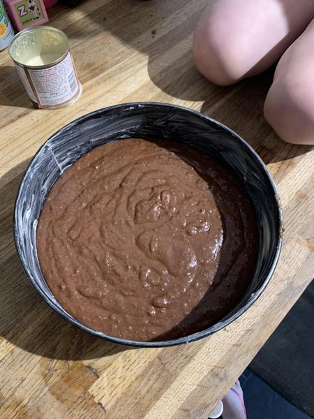 Baking cakes.