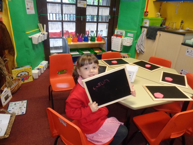 In our writing area