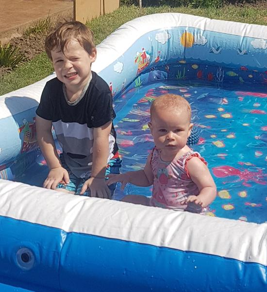 Paddling pool fun!