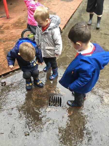 Muddy puddles!