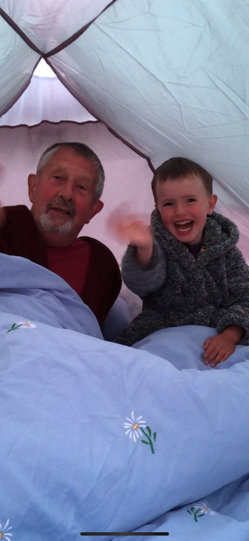Camping in the garden!