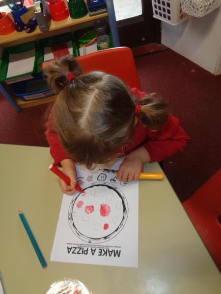 Designing our own pizzas!