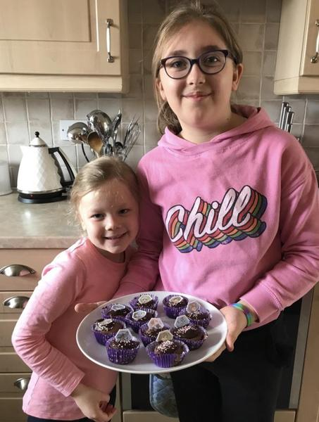 The finished cakes 🧁 yummy!