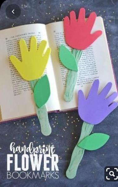 Cutout bookmark flowers