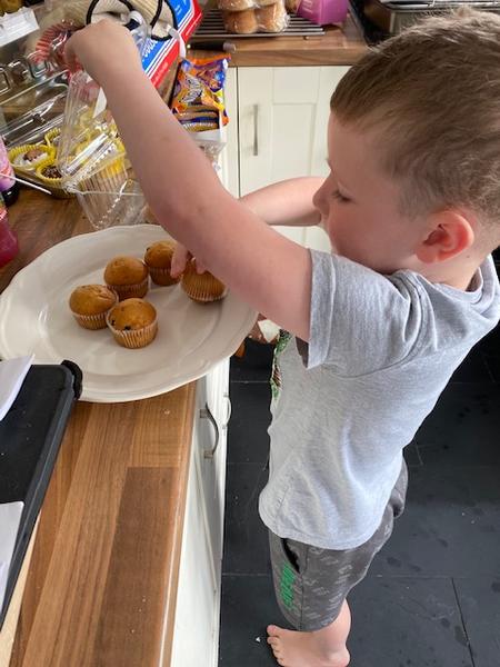Making Mummys birthday tea