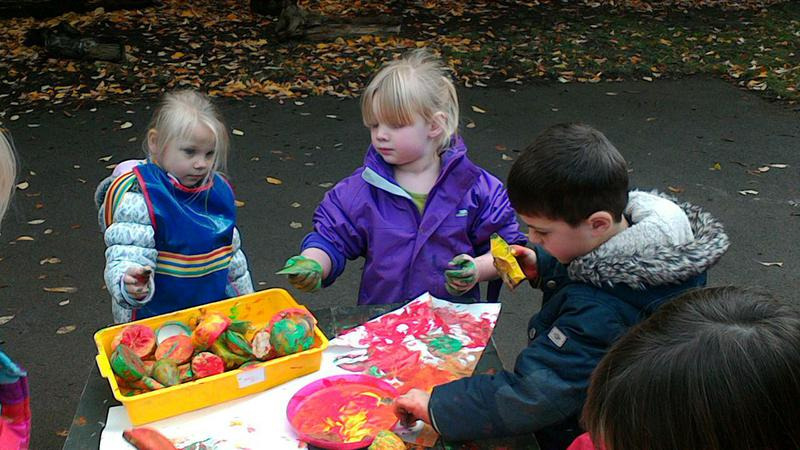 Making food for The Very Hungry Caterpillar.
