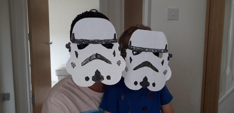 We made Stormtrooper masks