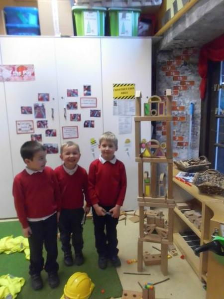 Working together to build a Chinese temple!
