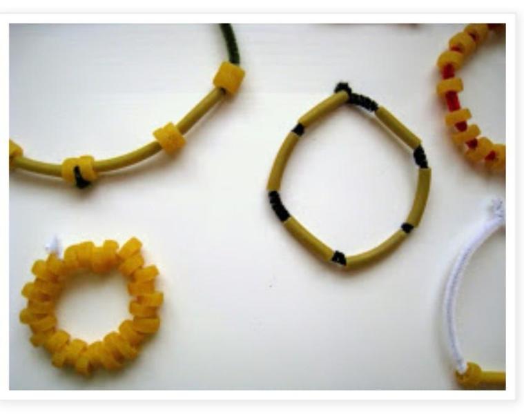 Pasta jewellery.