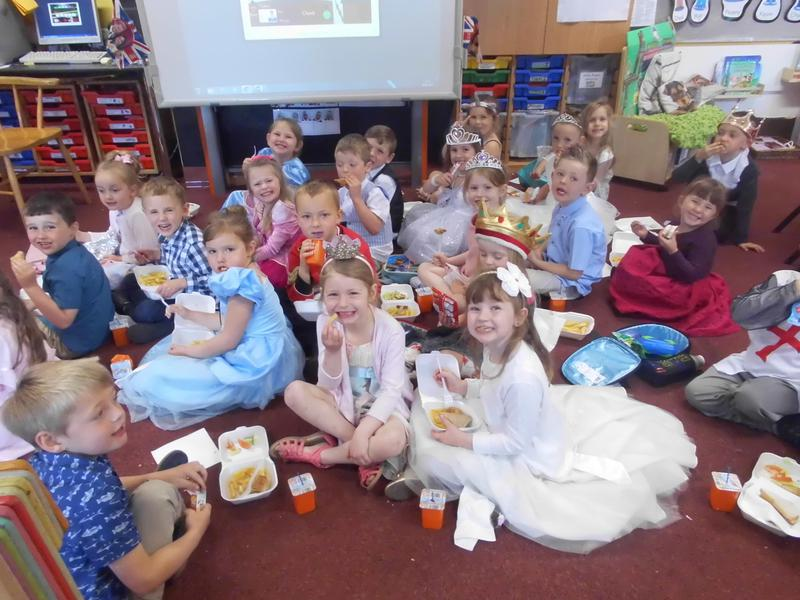Enjoying our picnic lunch