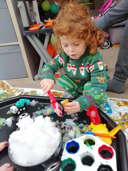 Messy play.