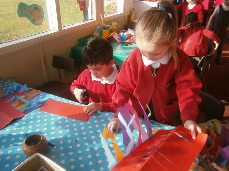 Making Chinese lanterns