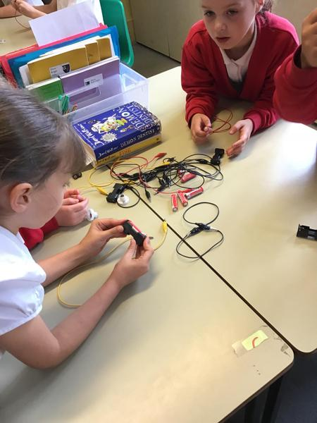 Working out how to make the bulb light up...